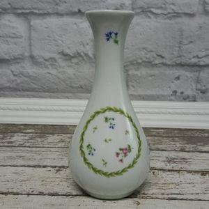 Rare Vintage Limoges Castel floral wreath bud vase